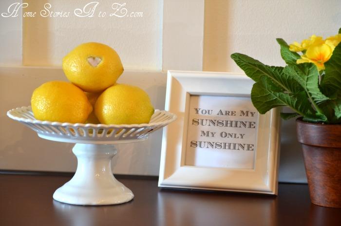 decorating with lemons