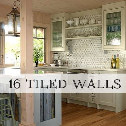 tiled walls - Tile Kitchen Wall