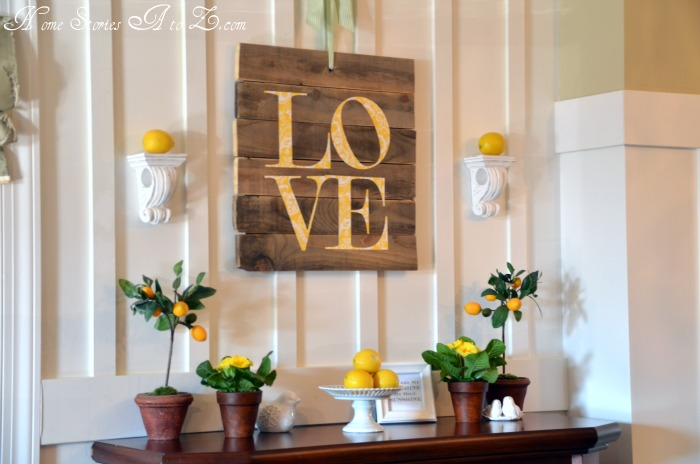 Valentine's Lemon Mantel