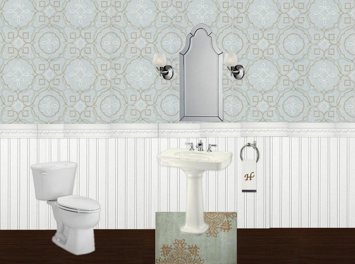 Half Bathroom Or Powder Room: Half Bath Reveal {powder Room}