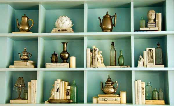 How To Decorate A Bookcase how to decorate shelves - home stories a to z