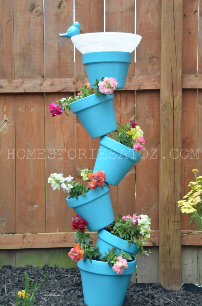diy garden planter birds bath home stories a to z ForGarden Planter Ideas