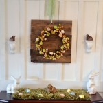 Bunny and Egg Easter Mantel