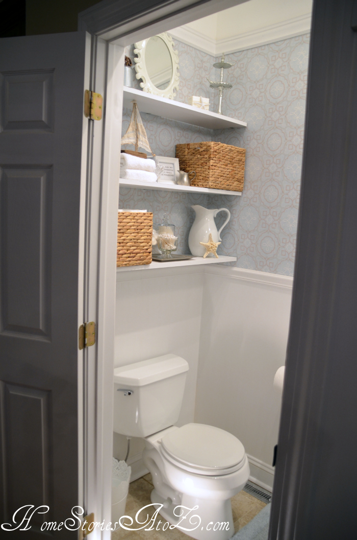 Half Bath Reveal {powder room