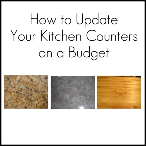 ... kitchen counters on a budget! 1.