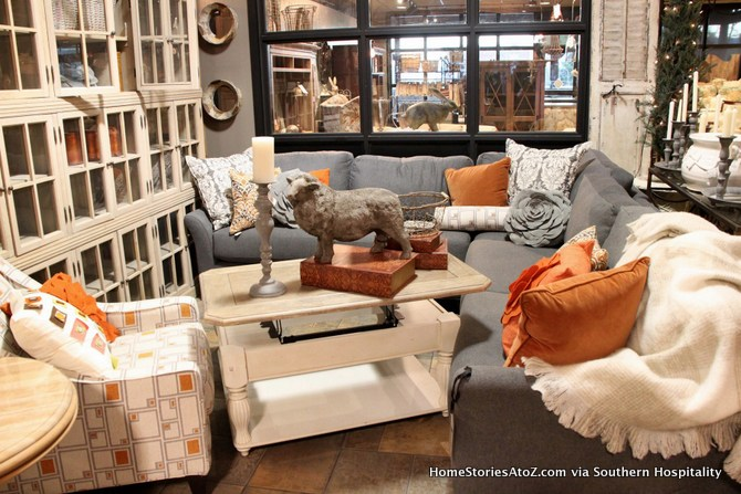 Gray And Orange. This Neutral Living Room ...
