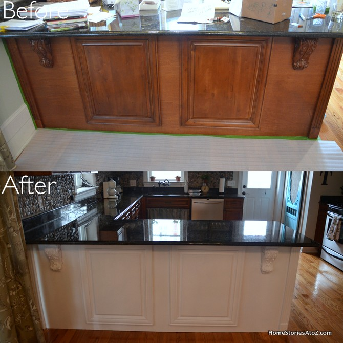 Painting Kitchen Cabinets With Rustoleum: White Painted Kitchen Island & Pantry Screen Door {$100