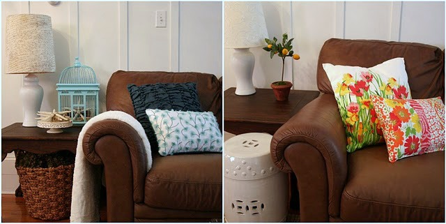 decorating with pillows for living room