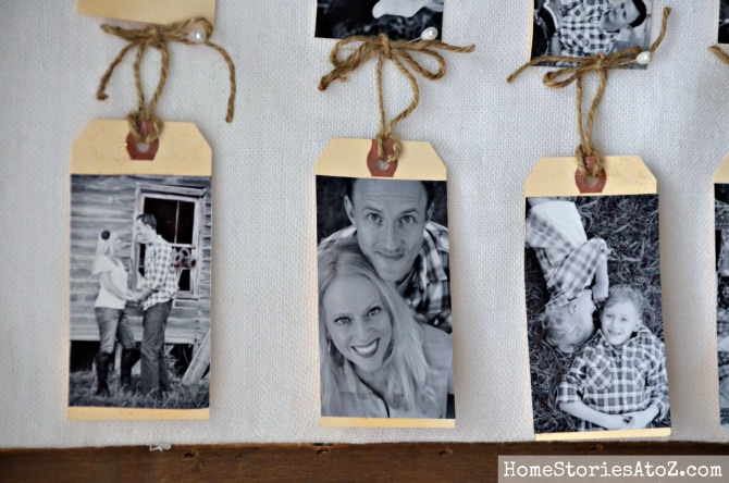 photo tags christmas craft idea DIY gift tag