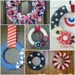 5 DIY Wreaths {the 4th of July}
