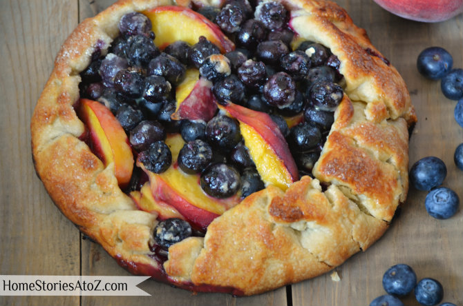 blueberry peach pie grilled