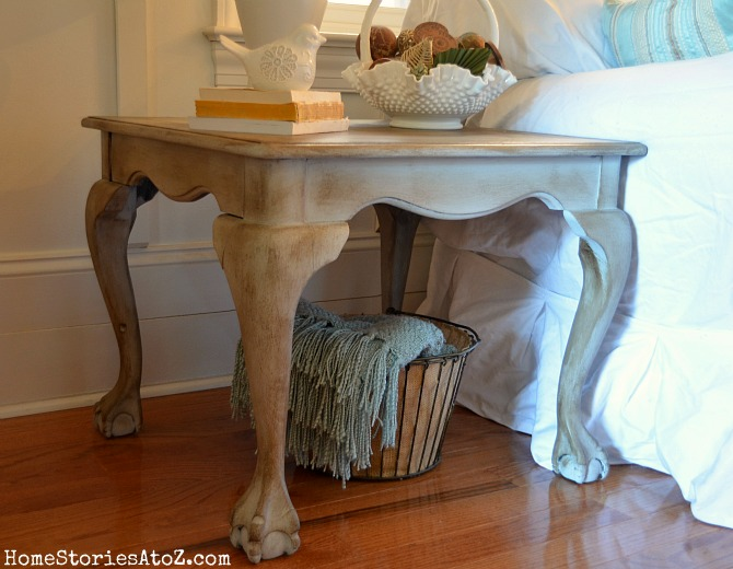 Annie Sloan Paris Gray End Table Makeover Home Stories A