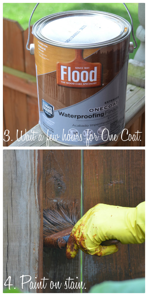 how to stain fence