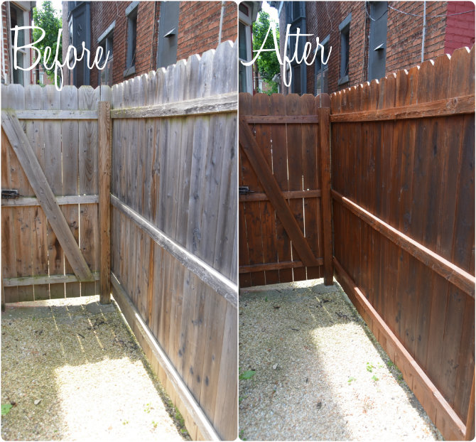 how to stain your fence flood one coat giveaway home stories a to. Black Bedroom Furniture Sets. Home Design Ideas