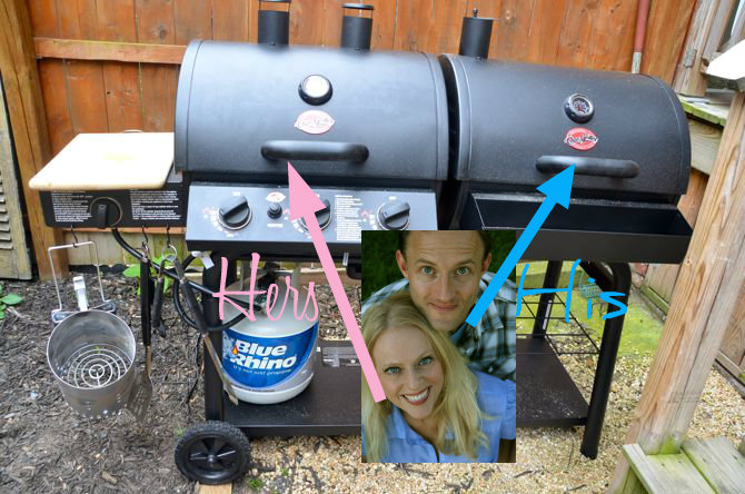 dual gas charcoal grill