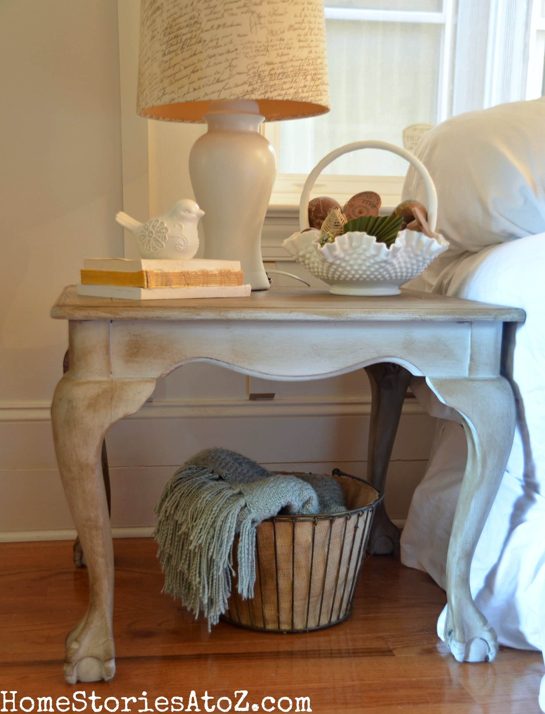 Annie Sloan Paris Gray End Table Makeover Home Stories A to Z