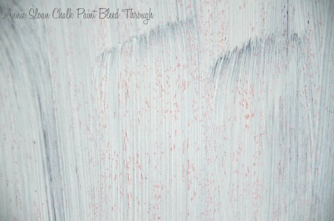 annie sloan chalk paint bleed through
