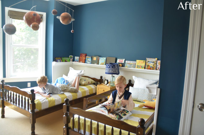 Sherwin williams rainstorm boys 39 room reveal giveaway Colors for toddler boy room