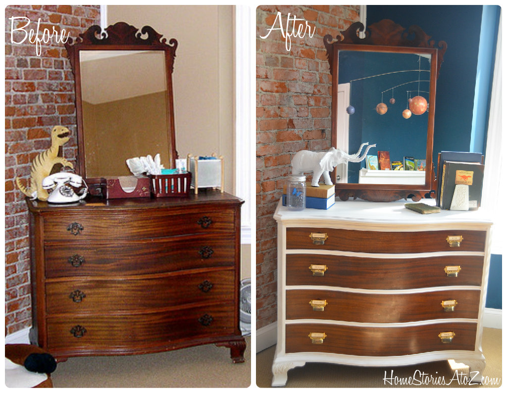 Two-toned Dresser Makeover - Home Stories A to Z