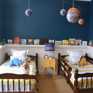 Sherwin Williams Rainstorm Boys Room Reveal Giveaway