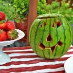 Watermelon Jack o'lantern {july 4th celebration}