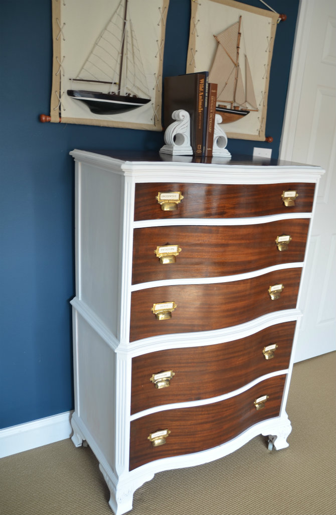 two tone dresser