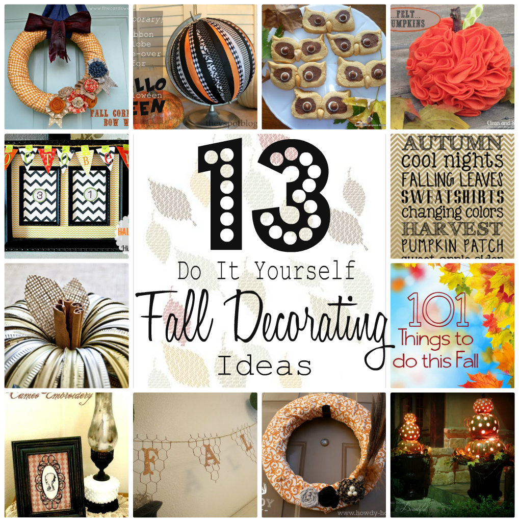 Do It Yourself Home Decorating Ideas: Do It Yourself Decorating For Fall {Tutes & Tips Not To