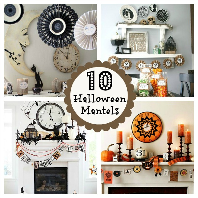 Home Decor Elegant Home Decor Diy: 10 Halloween Mantels {do It Yourself Decorating}