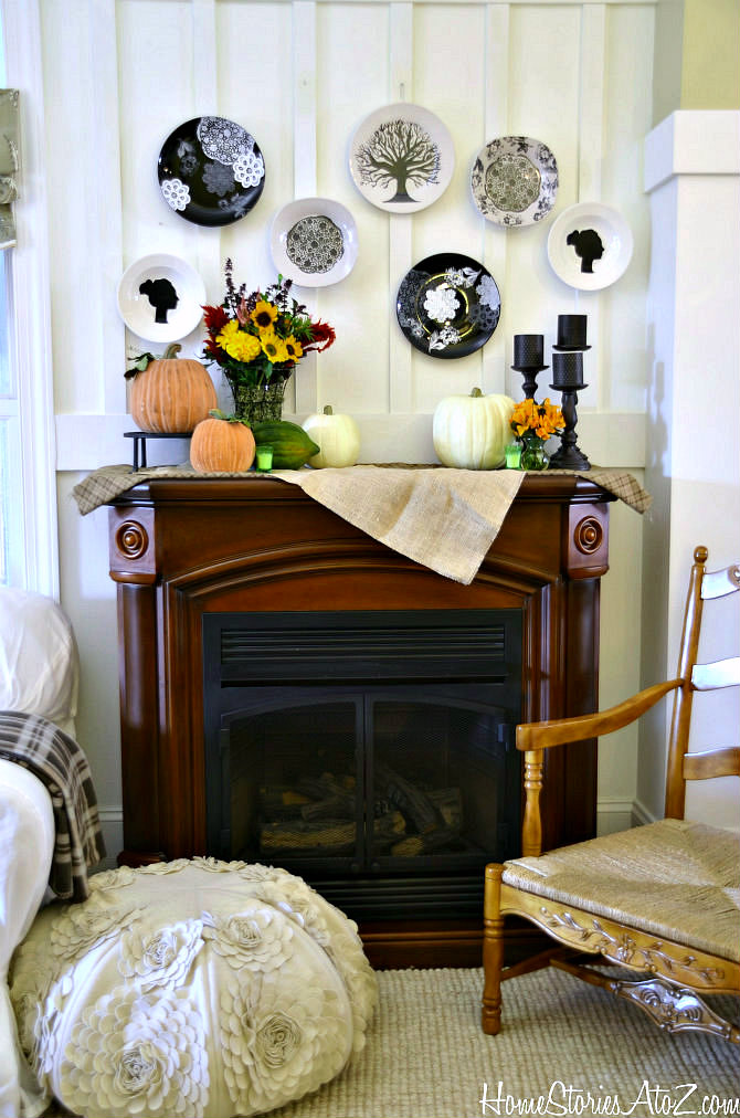 Country Living Inspired Fall Mantel With Martha Stewart