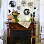 Country Living Inspired Fall Mantel with Martha Stewart Glass Paint