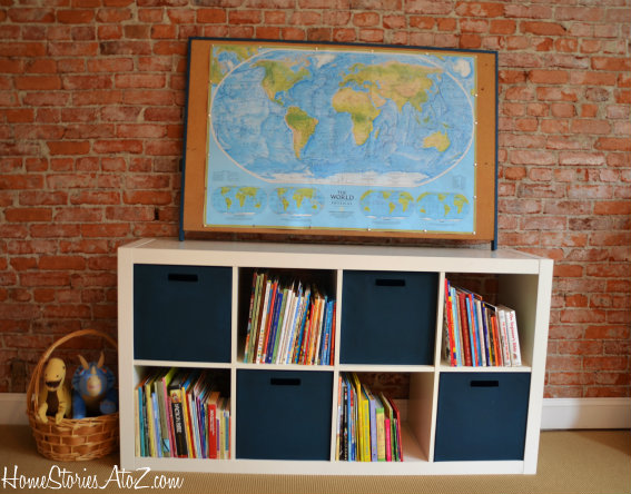 Expedit from Ikea {bin fabric painting}  Home Stories A to Z -> Ikea Wandregal Expedit