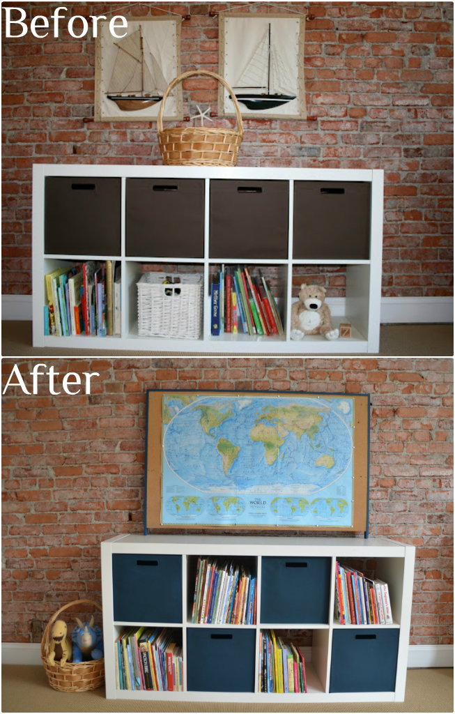 ikea expedit & Expedit from Ikea bin fabric painting