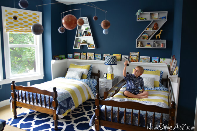 Amazing Or Perfect For That Perfect Shared Kids Room! Beth Today Is Unveiling Her  Boyu0027s Room Makeover And It Includes The A And Z Letter Shelves From Plans  We ...