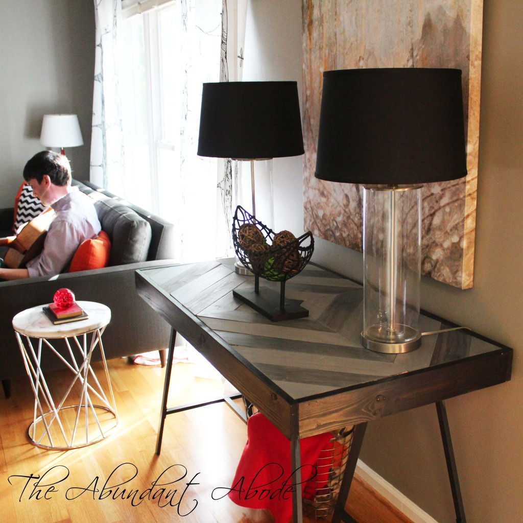 how to build herringbone table