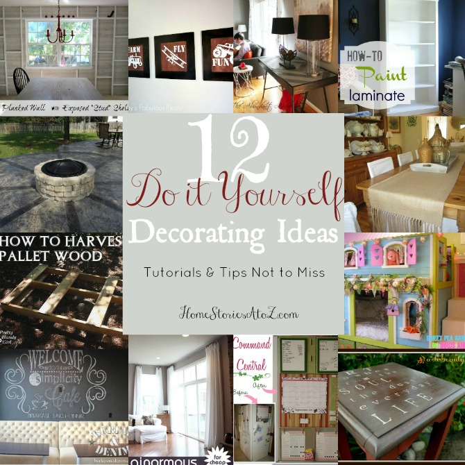 12 Do It Yourself Decorating Tips {Tutes & Tips Not To