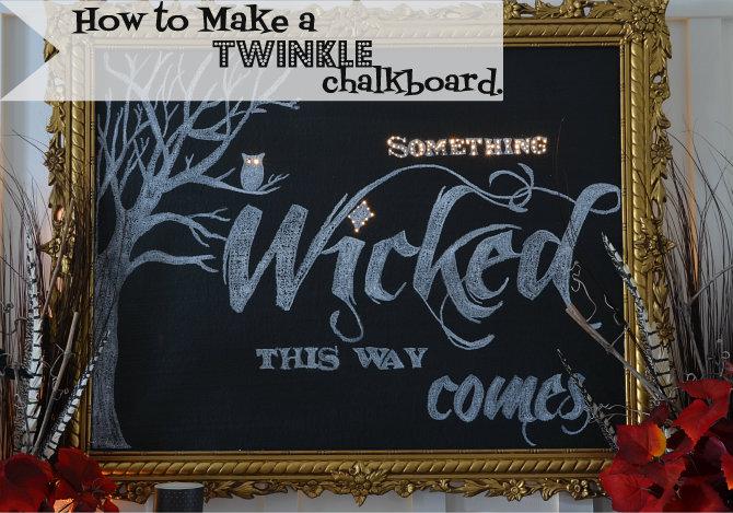 how to make chalkboard