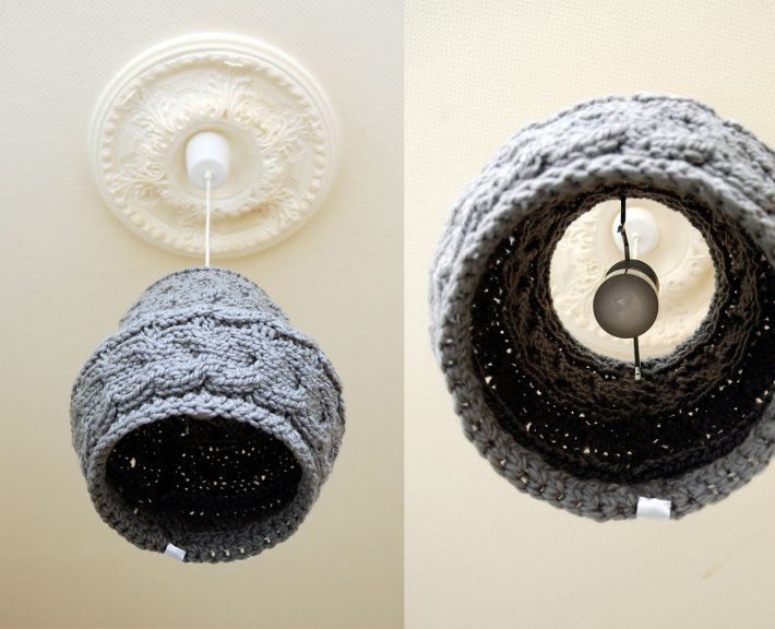 cable knit lampshade