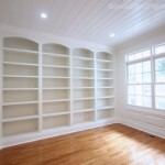 Inspiration file: DIY Built-in Bookshelves and Wainscoting