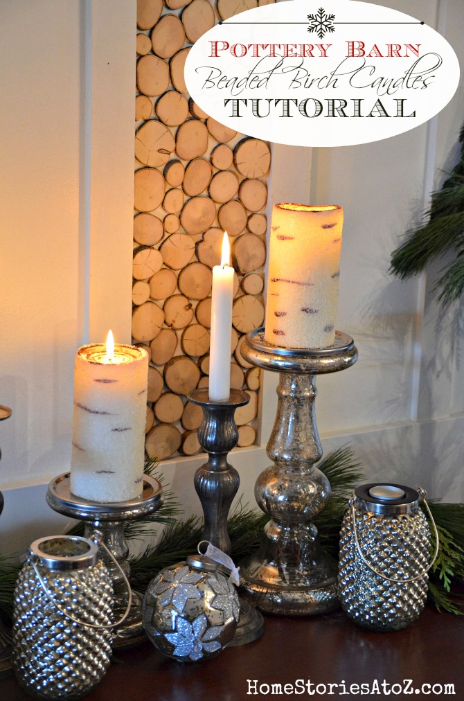 How To Make Painted Birch Tree Candles Pottery Barn Knock