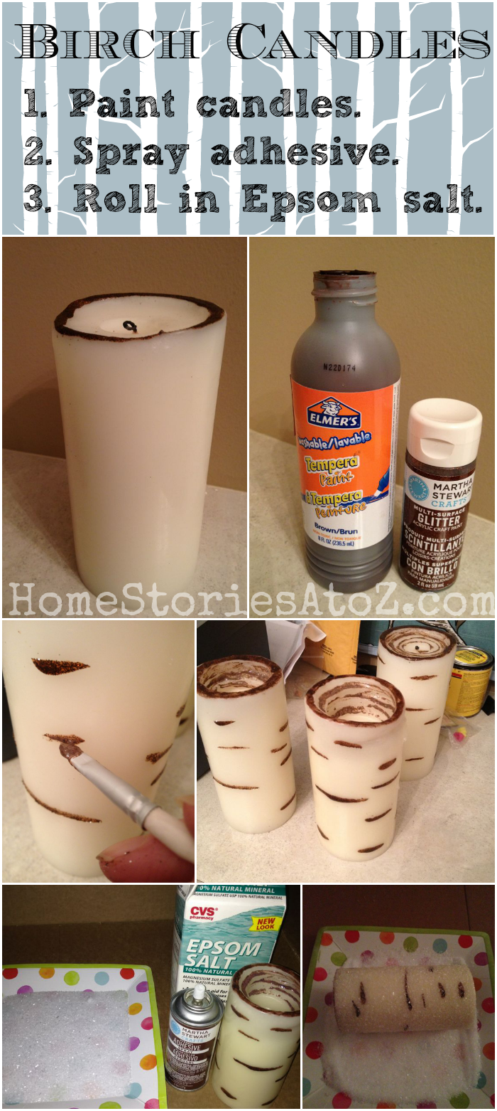 How To Birch Candles