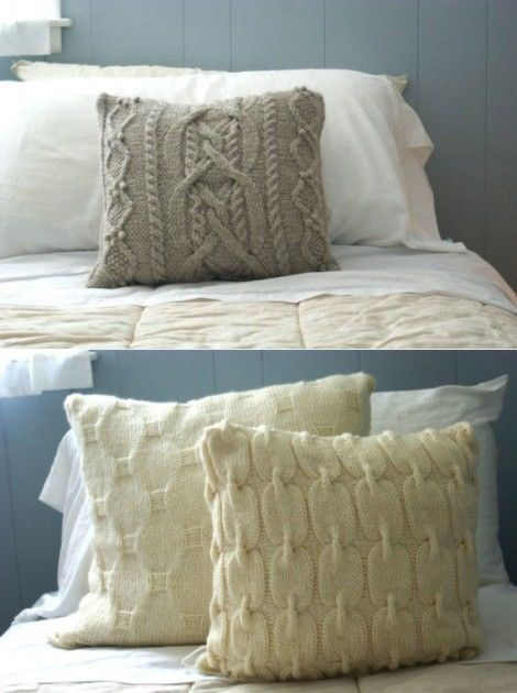 cable knit pillows