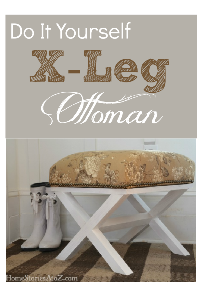 Do it yourself x leg ottoman home stories a to z diy ottoman solutioingenieria Images