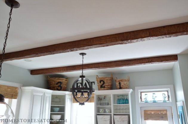Fake Ceiling Beams ~ Home stories a to z kitchen with az faux beams