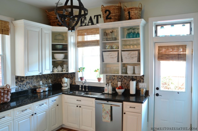 How to update your kitchen on a budget home stories a to z for Kitchen cabinets no doors