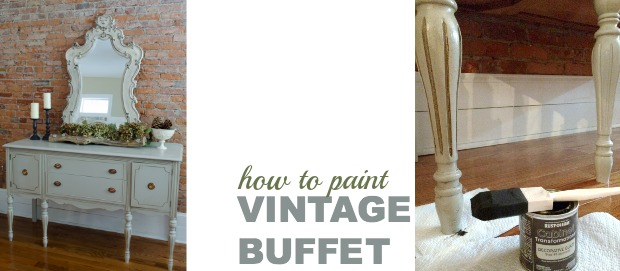painting a vintage buffet