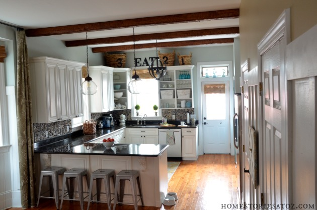 Home Stories A to Z Kitchen with AZ Faux Beams - Home Stories A to Z