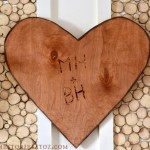 wood carved valentine