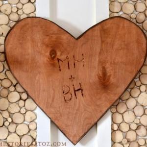 wood carved valentine