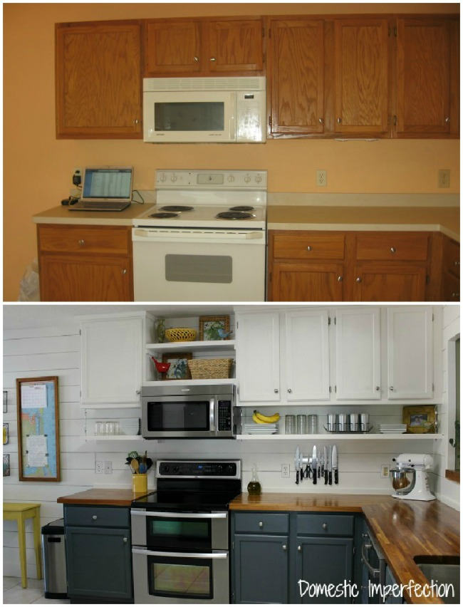cheap kitchen makeover ideas before and after 20 tutorials and tips not to miss diy projects 27679