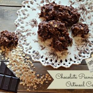 chocolate peanut butter oatmeal no bake cookie recipe